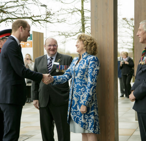 HRH The Duke of Cambridge opens new remembrance centre at the National Memorial Aboretum, in Derby, UK. 29 March, 2017