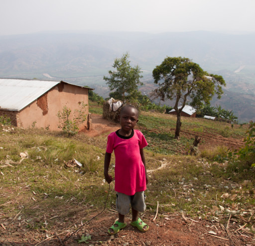 Child in Kigali Countryside