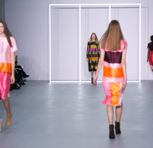 Models presenting the Jasper Conron AW16 catwalk collection at LFW