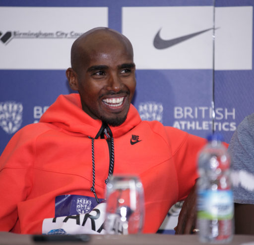 Mo Farah, David Rushida and Aspel Kiprop hold press conference in Birmingham, UK.04/06/2016