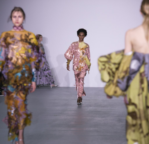 Up and coming designers from Central St Martins MA present their catwalk collections at LFW AW16