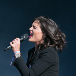 Jessie Ware performing live on stage at Parklife 2015 Festival in Manchester, UK