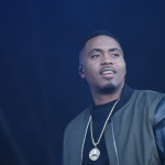 Nas performing live on stage as the headline act at Parklife 2015 Festival in Manchester