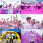 Some of the 8,500 runners to take part in the Birmingham Color Run