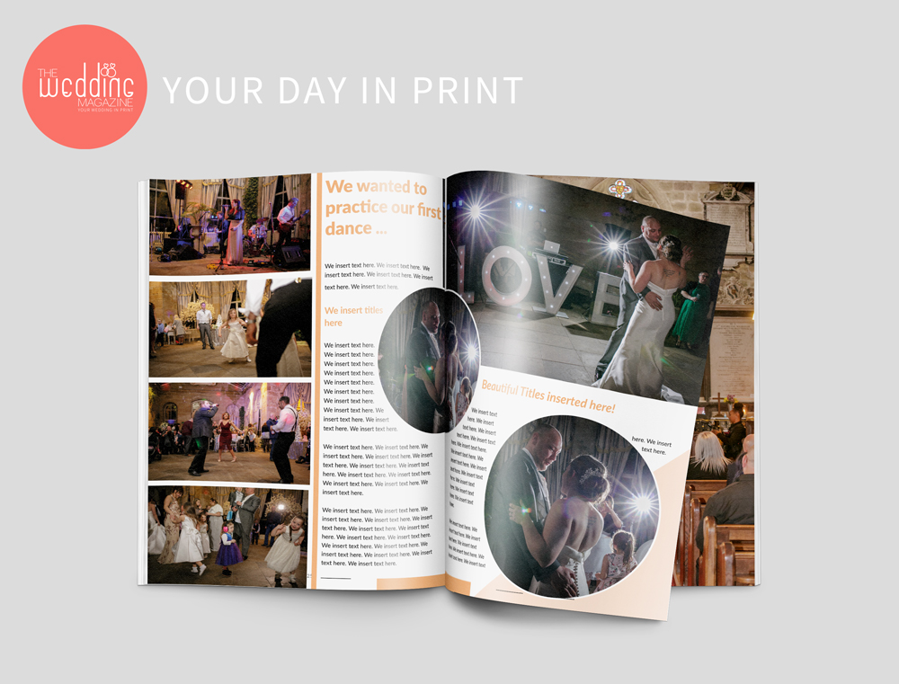 personalised wedding magazine