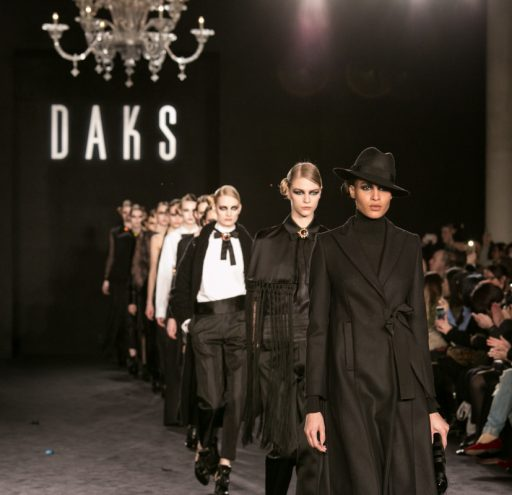 The DAKS catwalk collection at LFW AW16