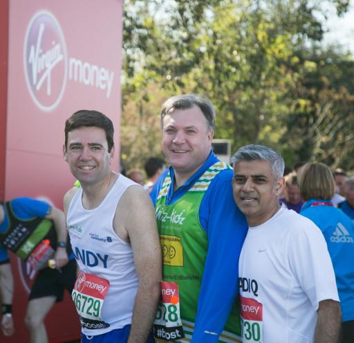 Ed Balls London Marathon